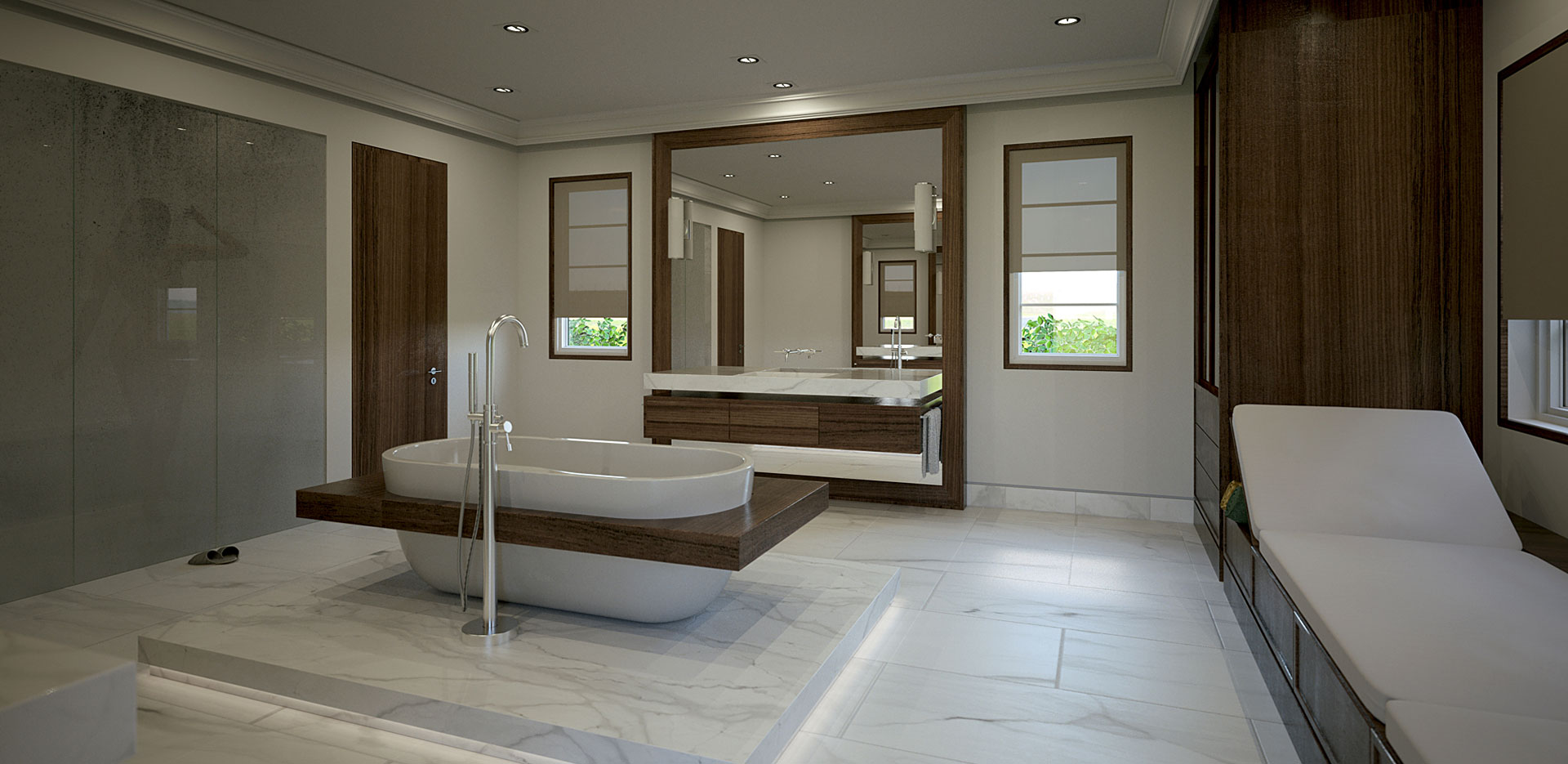 Architectural Rendering Master Bath